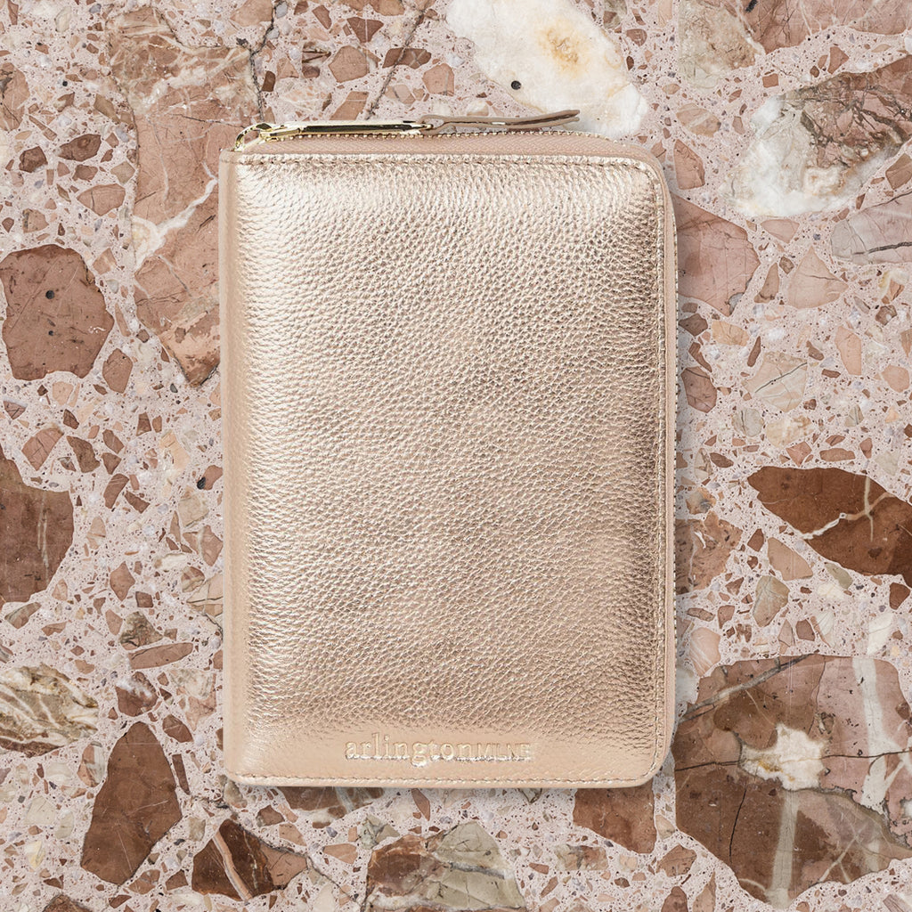 Arlington Milne Emma Wallet, Rose Gold