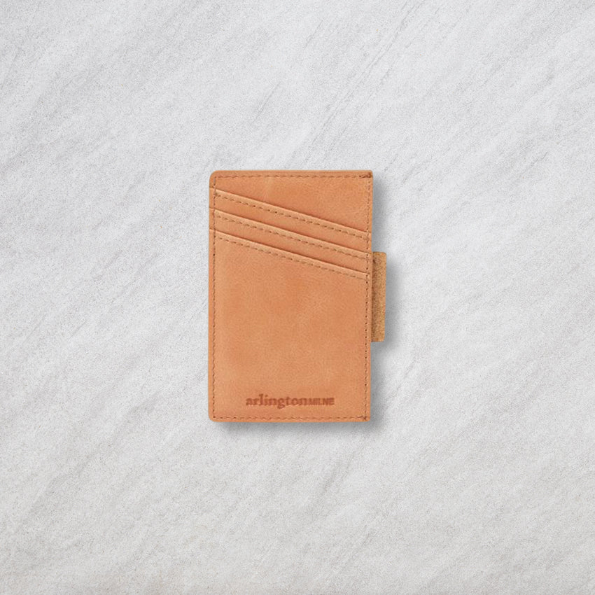 Arlington Milne Johnny Card Holder, Tan