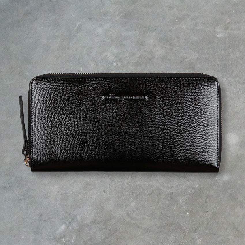 Arlington Milne Large Wallet, Black Gloss