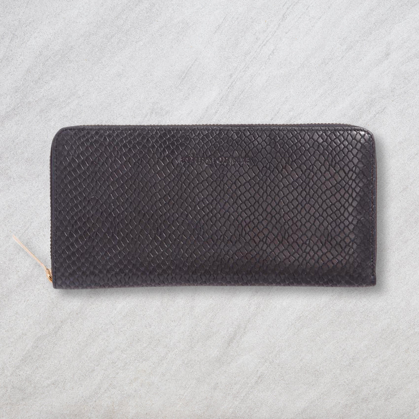 Arlington Milne Large Wallet, Navy Snake