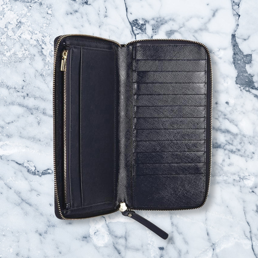 Arlington Milne Large Wallet, Navy
