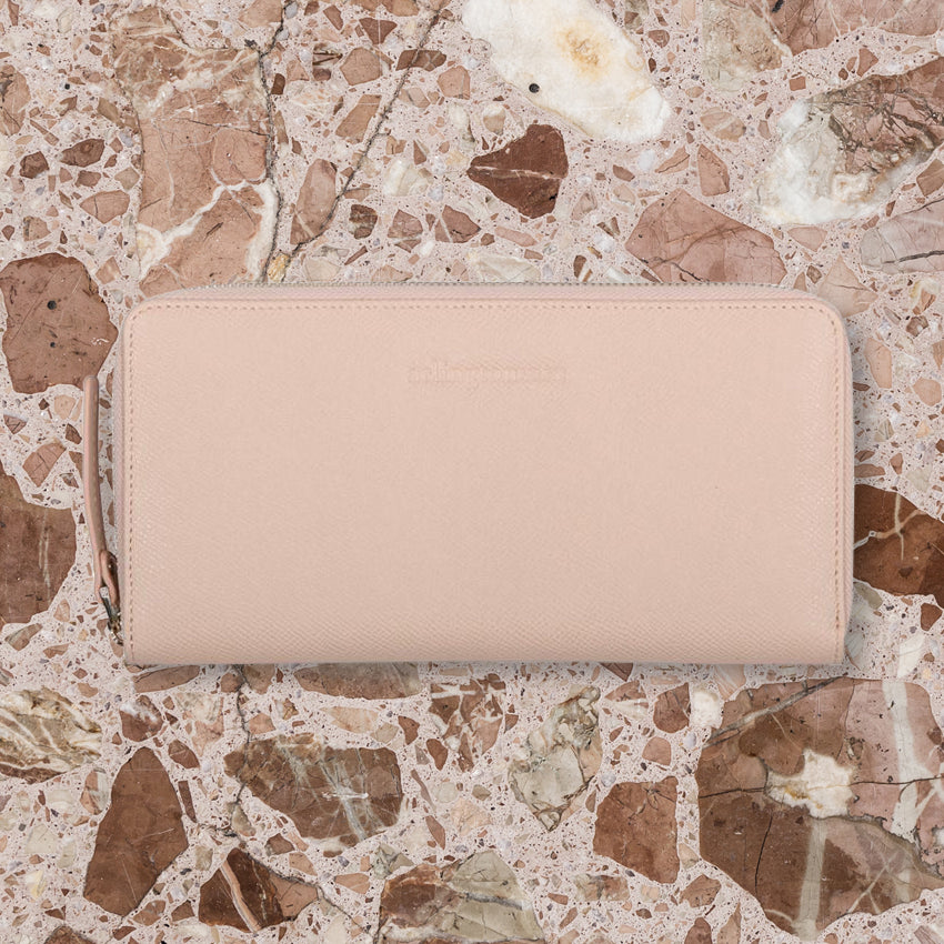 Arlington Milne Large Wallet, Nude