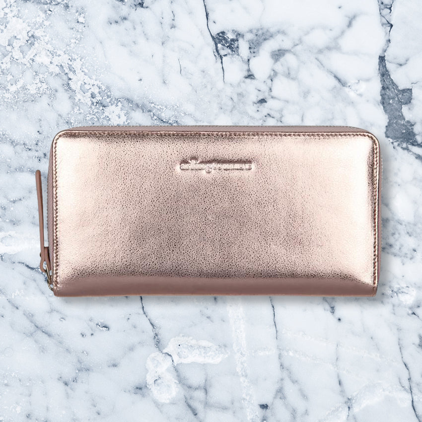 Arlington Milne Large Wallet, Rose Gold