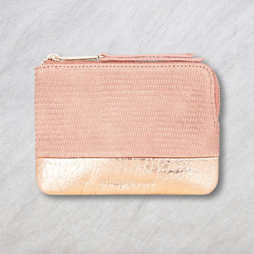Arlington Milne Lou Lou Coin Purse, Blush Scales/Rose Gold