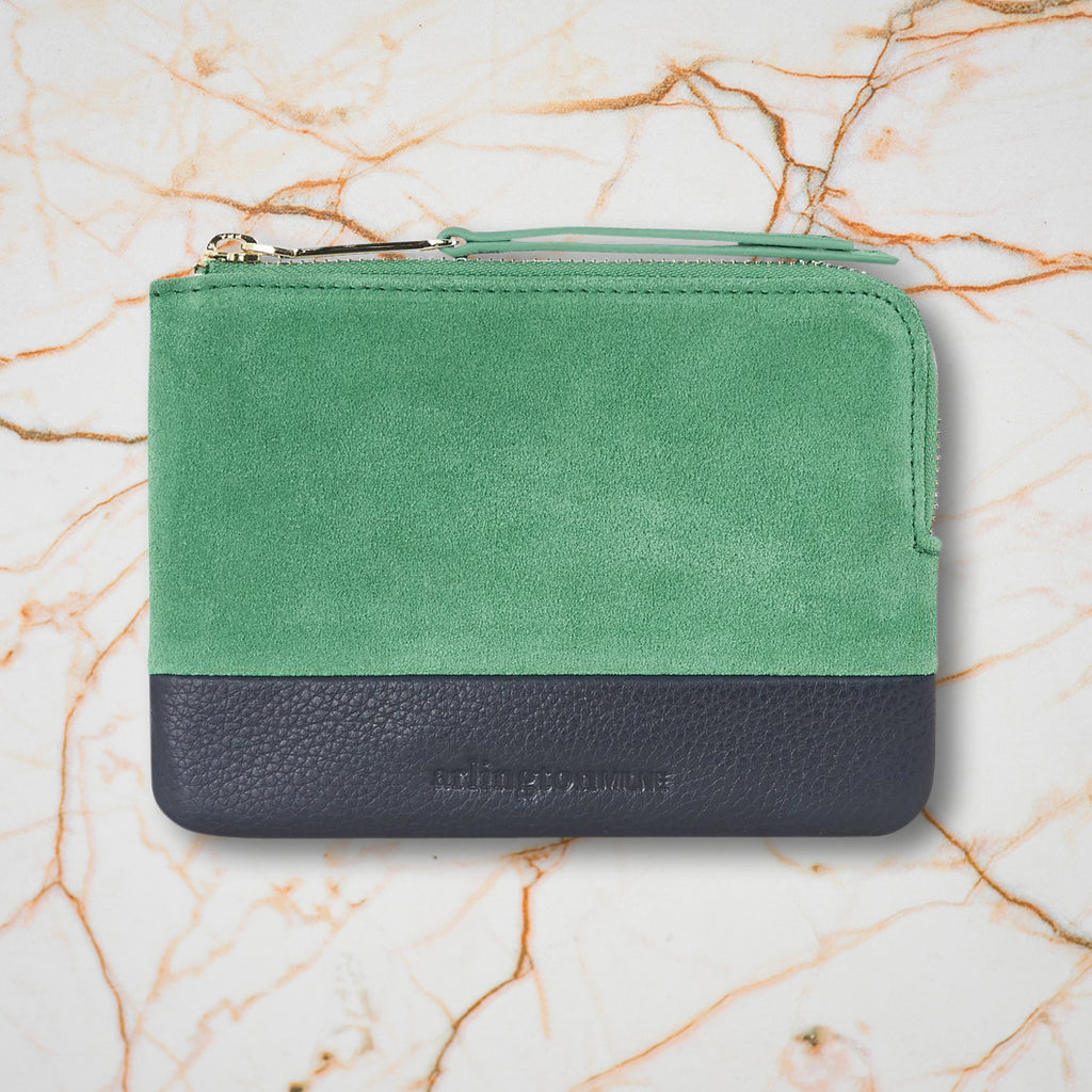 Arlington Milne Lou Lou Coin Purse, Emerald/Navy