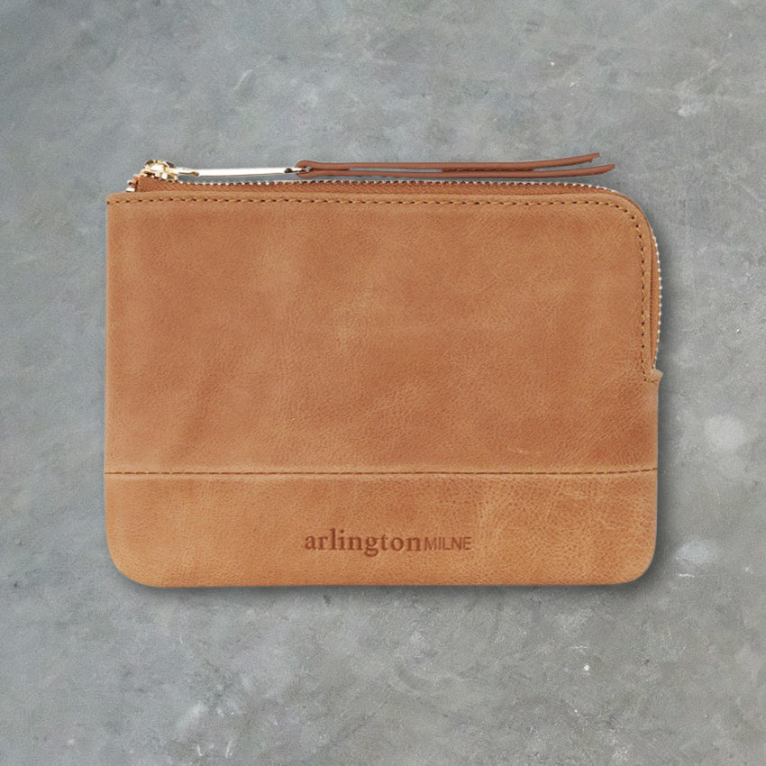 Arlington Milne Lou Lou Coin Purse, Vintage Tan