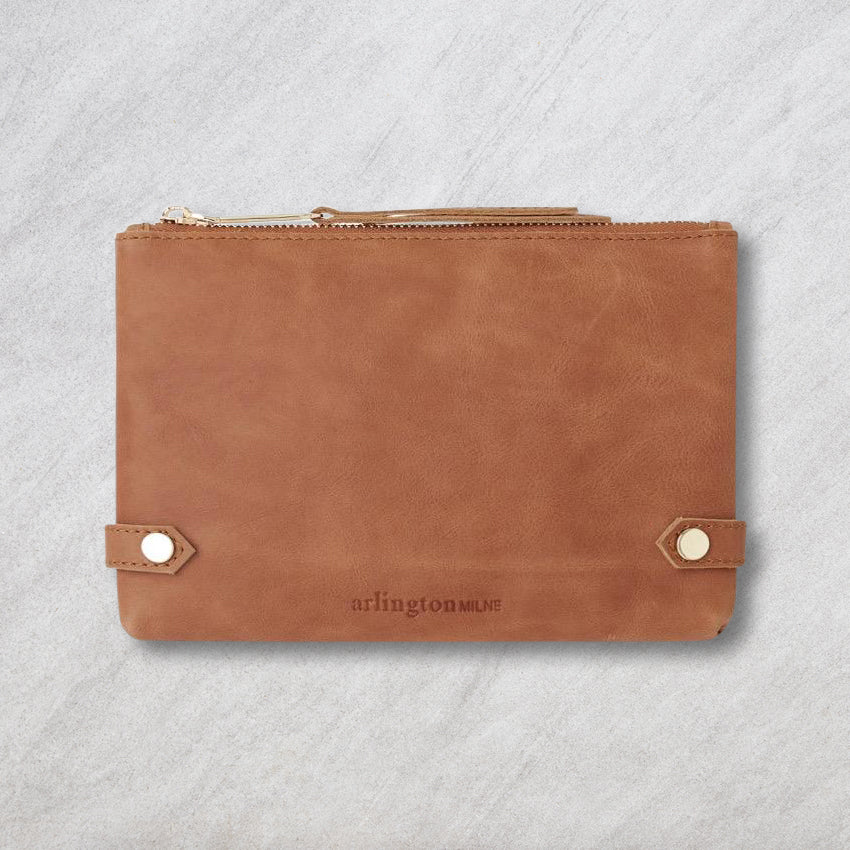 Arlington Milne Olivia Coin Purse, Vintage Tan