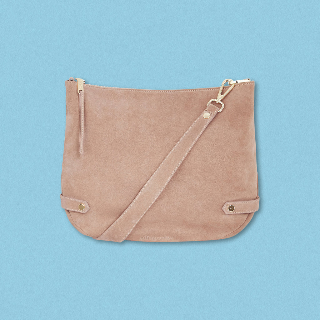Arlington Milne Olivia Shoulder Bag, Nutmeg Suede