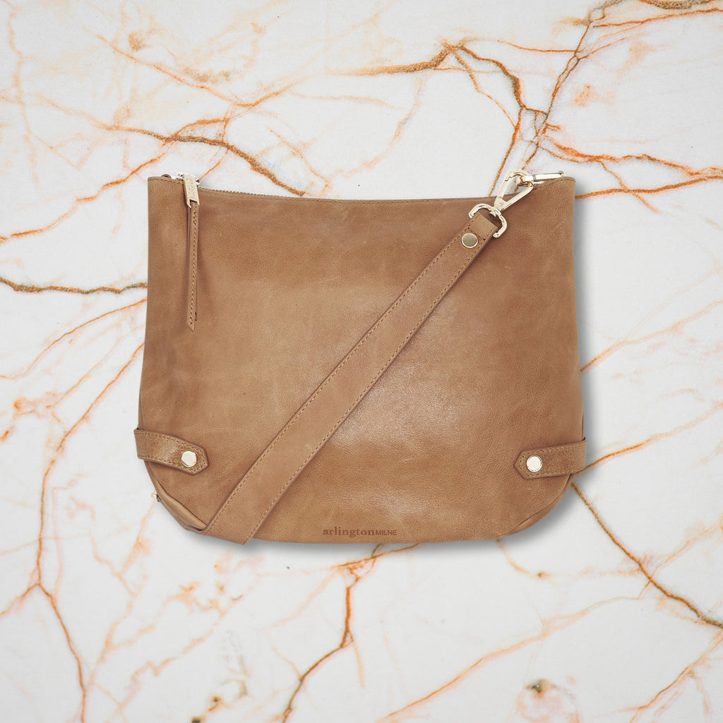Arlington Milne Olivia Shoulder Bag, Vintage Tan