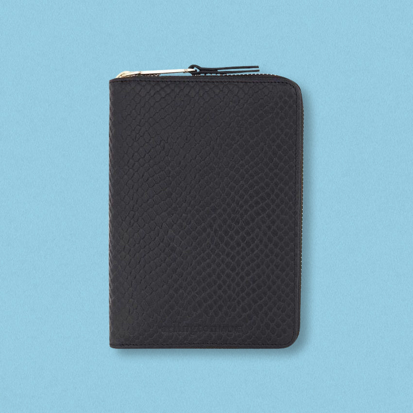 Arlington Milne Zoe Passport Holder, Navy Snake