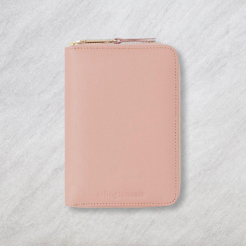 Arlington Milne Zoe Passport Holder, Nude Saffiano