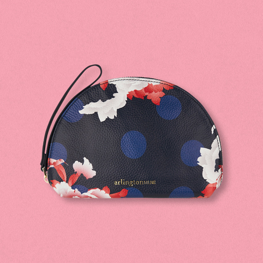 Arlington Milne Ava Purse, Navy Floral