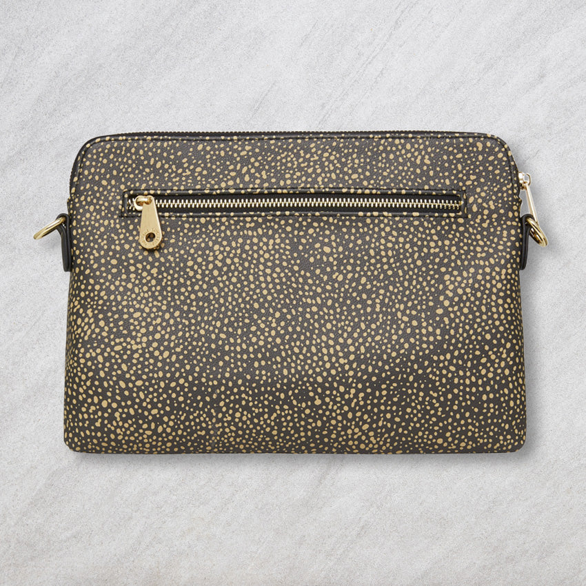 Elms + King Bowery Clutch, Dark Cheetah