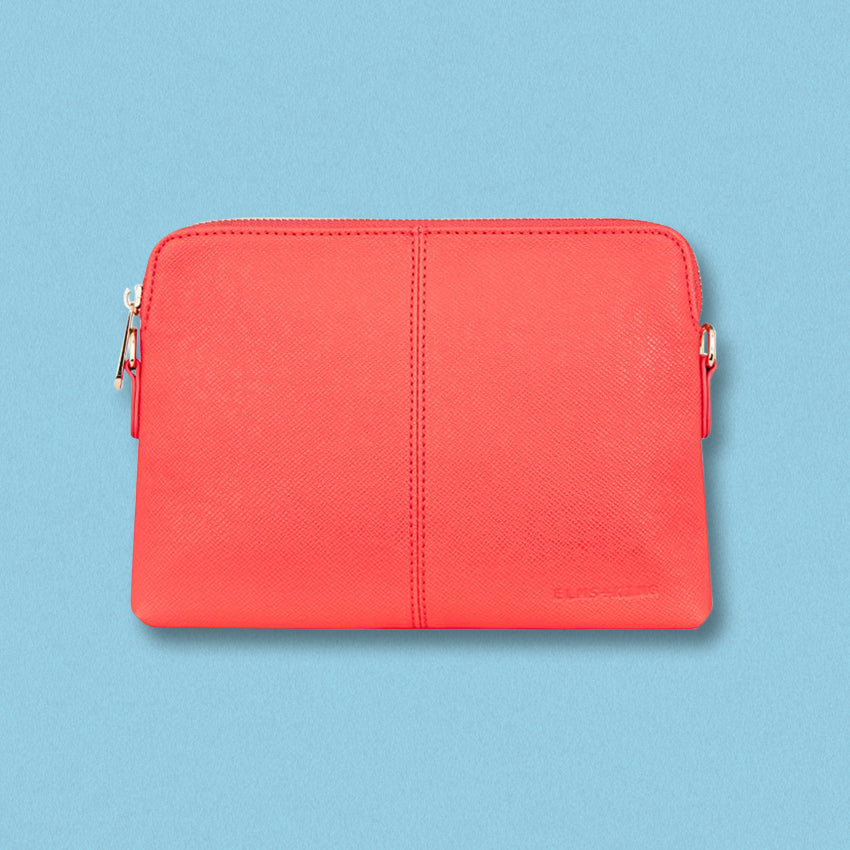 Elms + King Bowery Wallet, Red Camelia