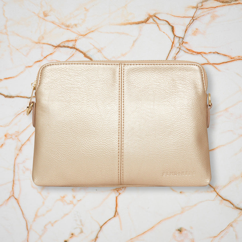 Elms + King Bowery Wallet, Light Gold