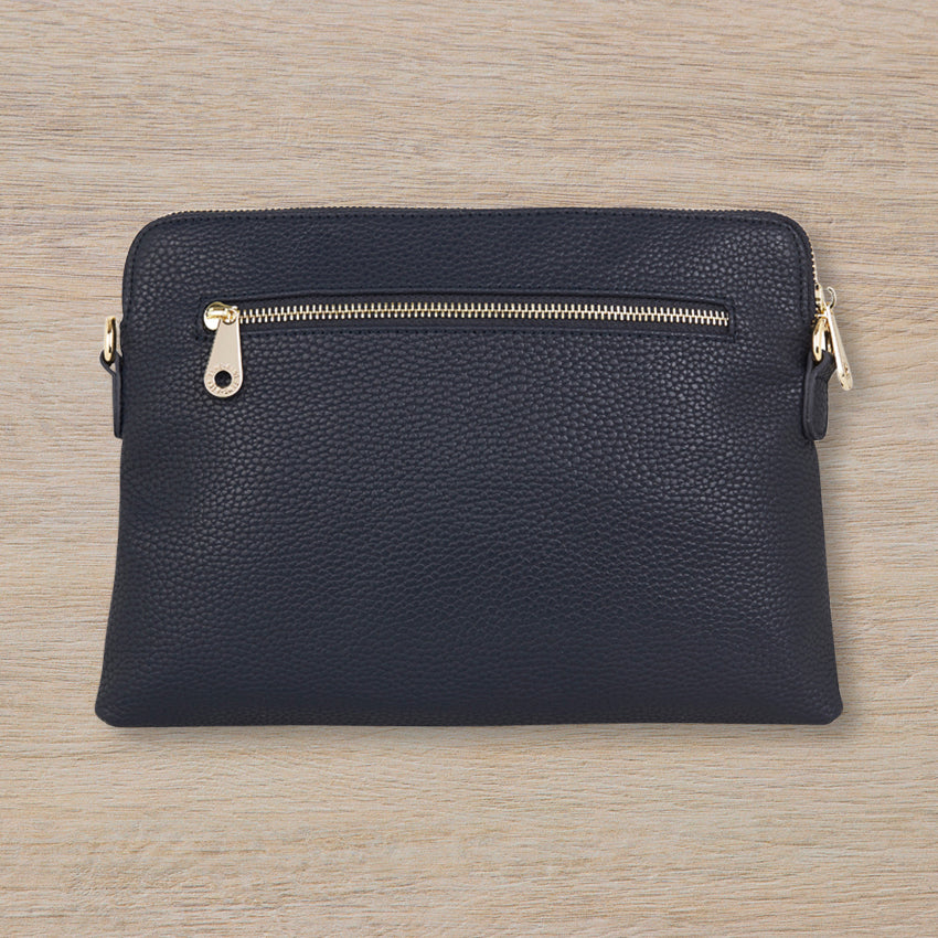 Elms + King Bowery Clutch, French Navy