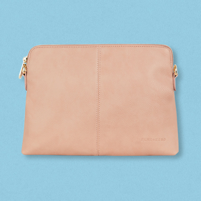 Elms + King Bowery Clutch, Nude Pebble