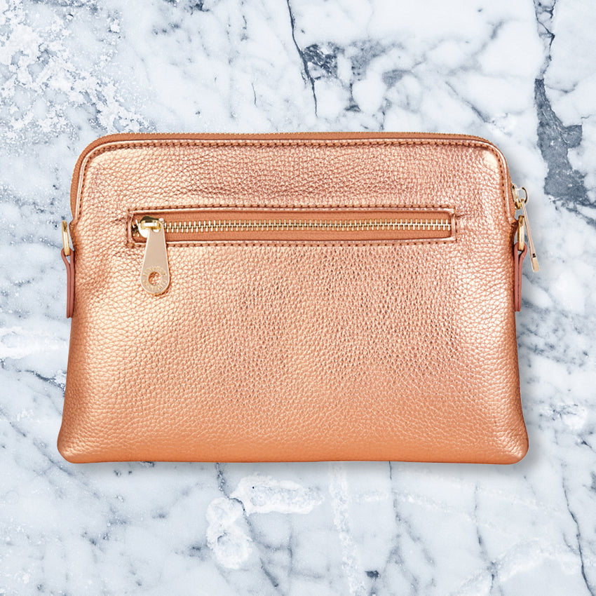 Elms + King Bowery Wallet, Metallic Rose