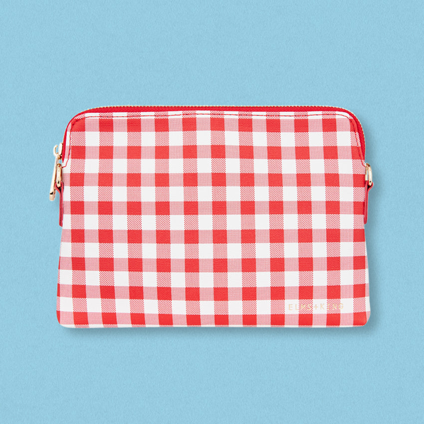 Elms + King Bowery Wallet, Red Gingham