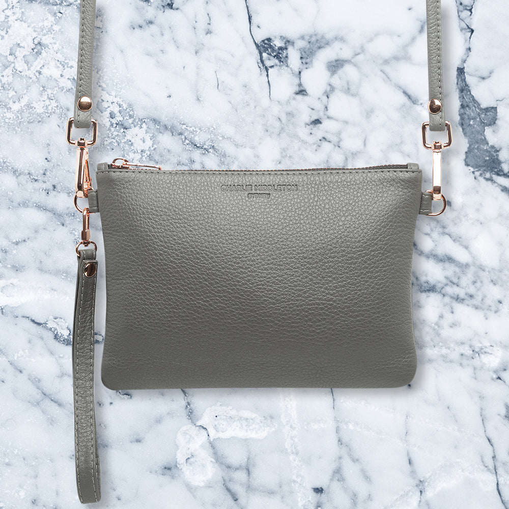 Charlie Middleton Essentials Clutch, Grey