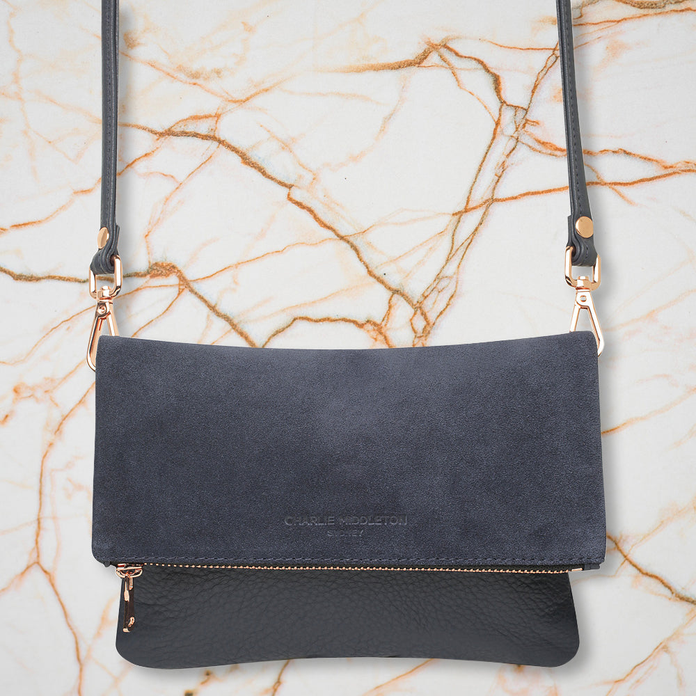 Charlie Middleton Mini Weekend Clutch, Midnight Two Tone