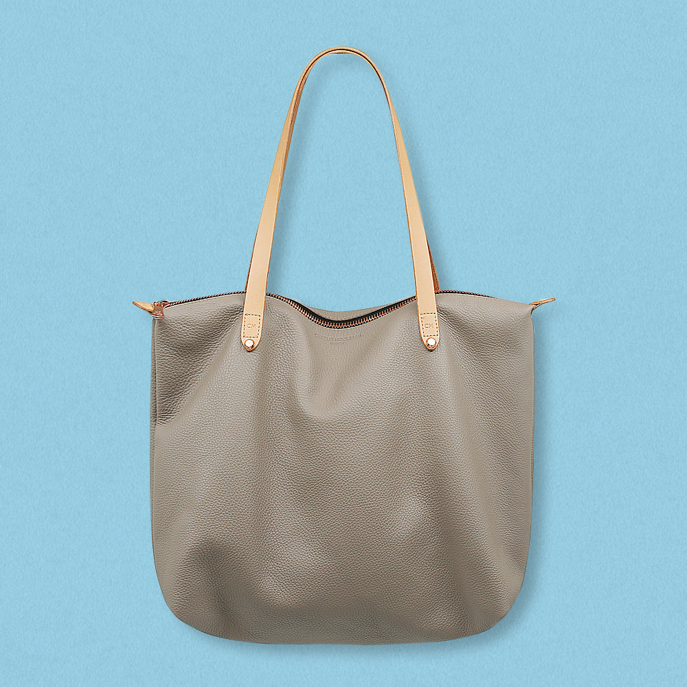 Charlie Middleton Bespoke Zippered Tote, Taupe Vogue