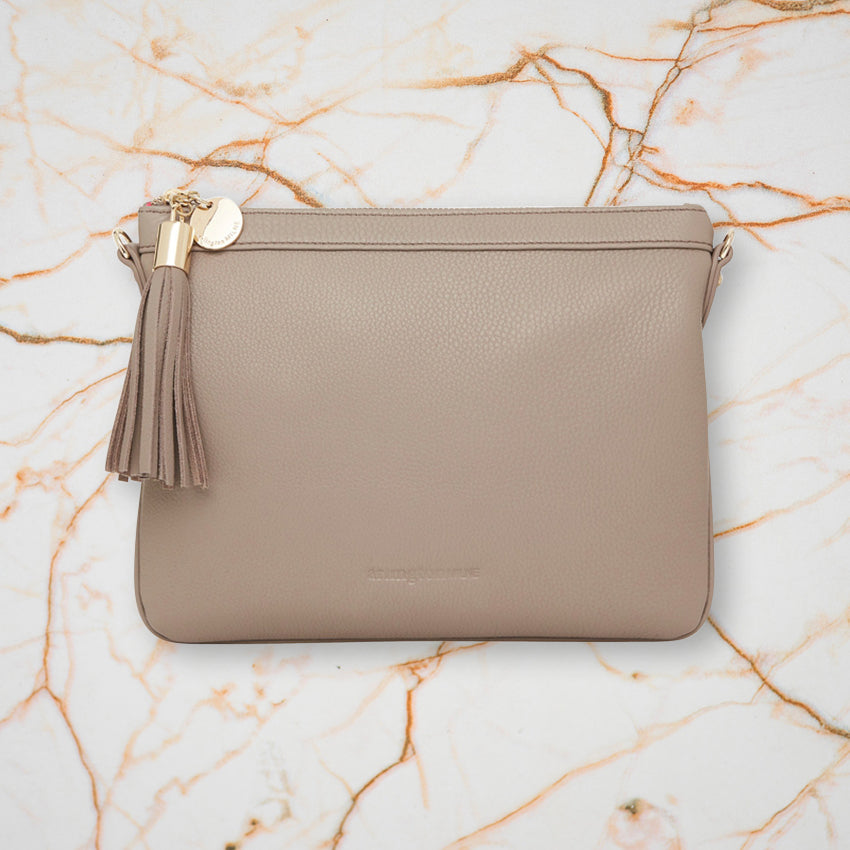 Arlington Milne Coco Clutch, Putty