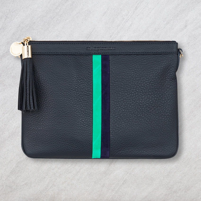 Arlington Milne Coco Clutch Special Edition, Navy Stripe