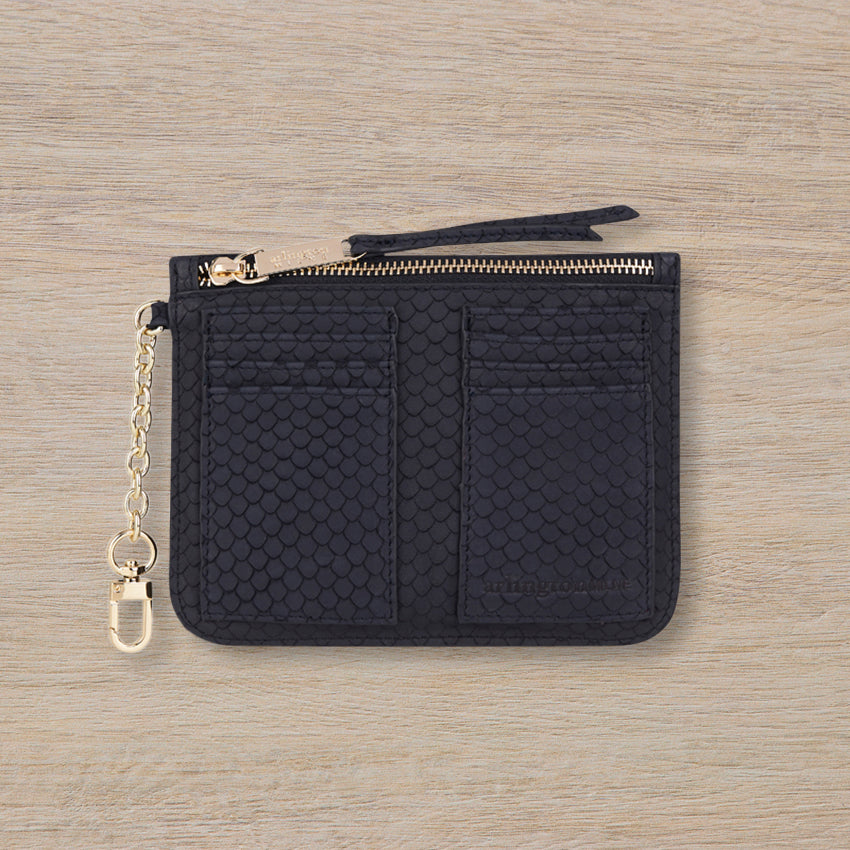 Arlington Milne Coco Coin Purse, Navy Scales