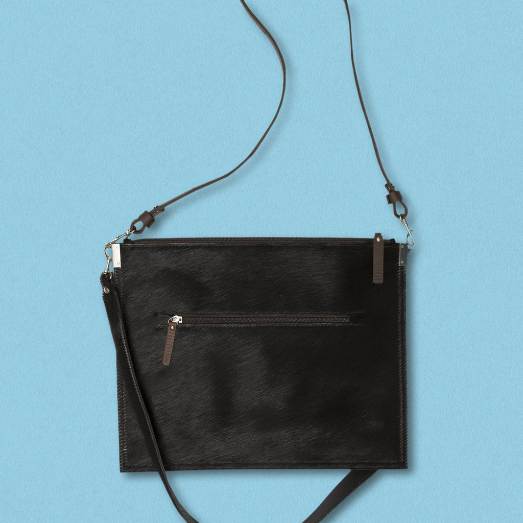 Convict Annette Bag, Black Cowhide