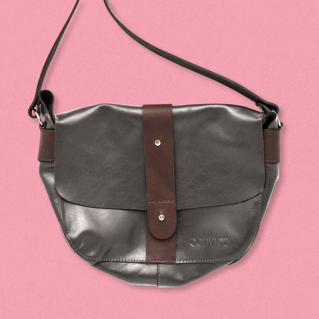 Convict Betsey Satchel, Grey Leather