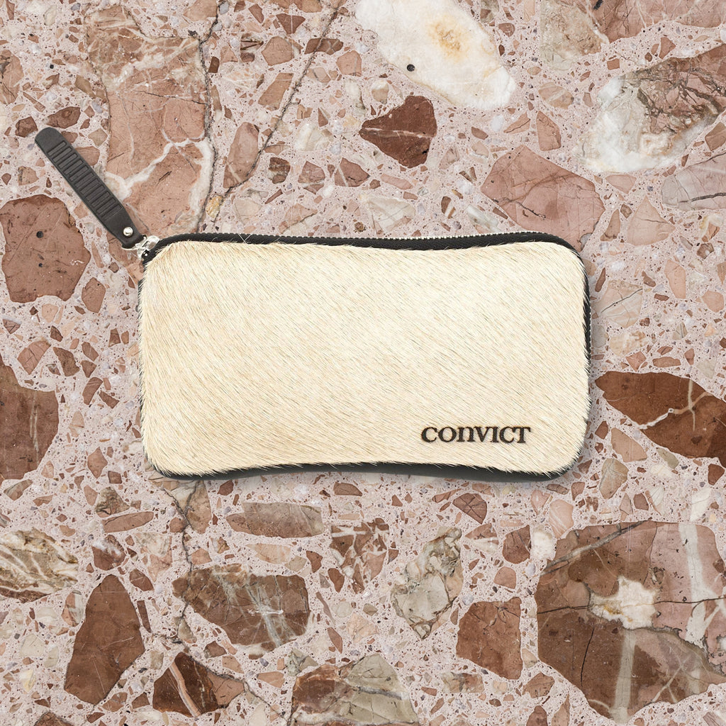 Convict Esther Wallet, Beige Cowhide
