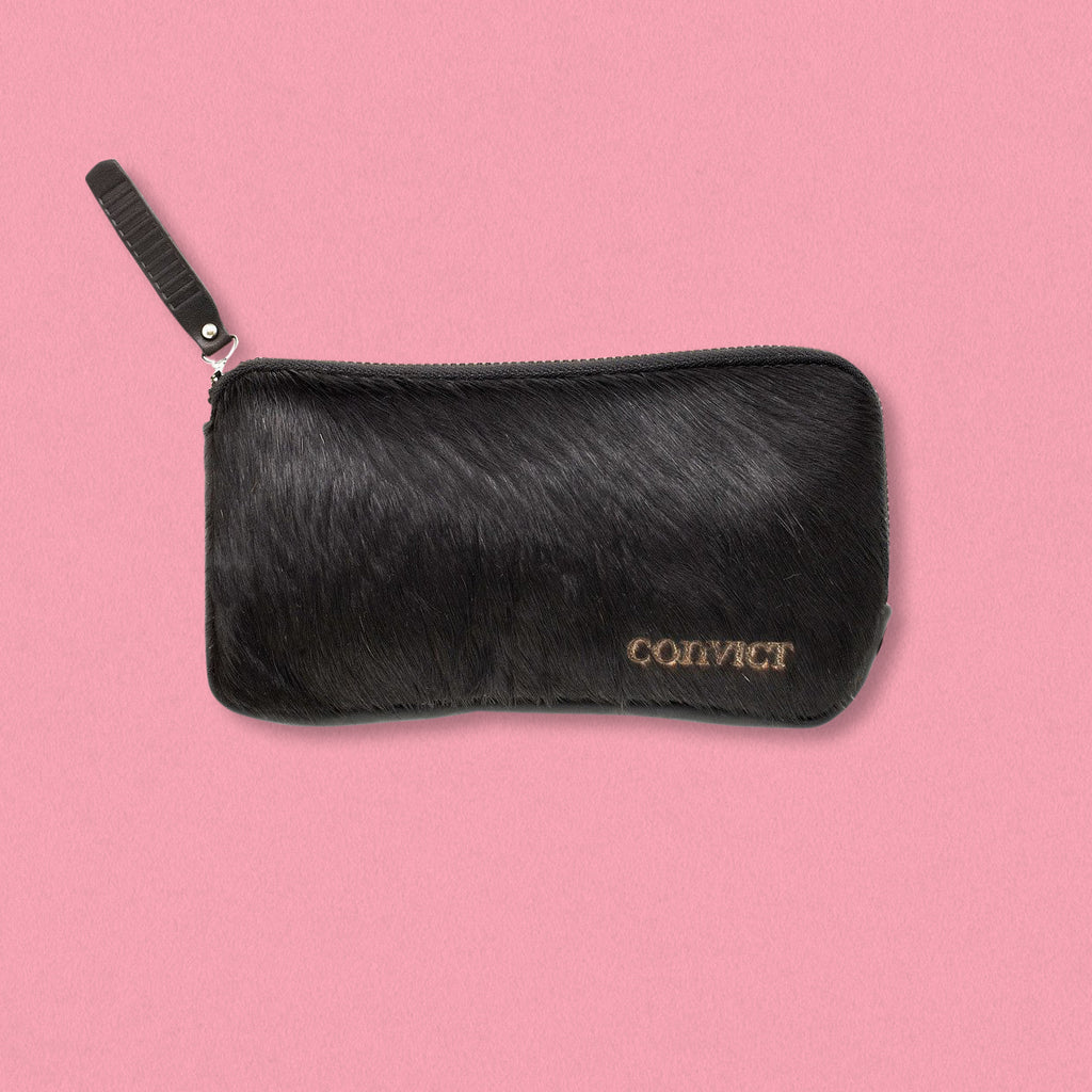 Convict Esther Wallet, Black Cowhide