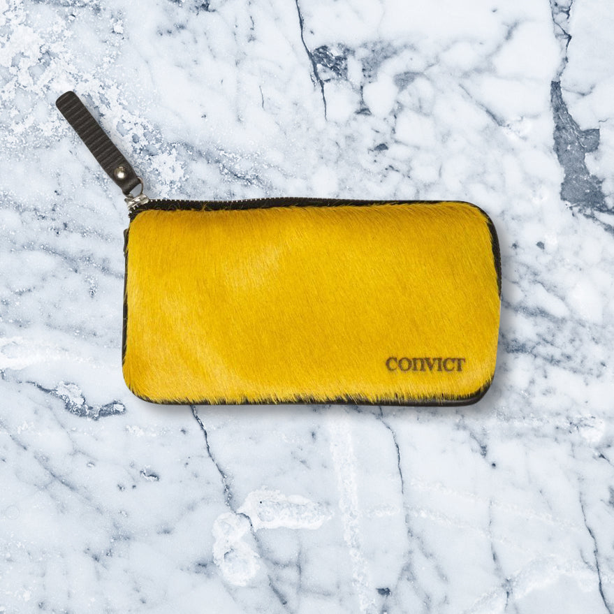 Convict Esther Wallet, Mustard Cowhide