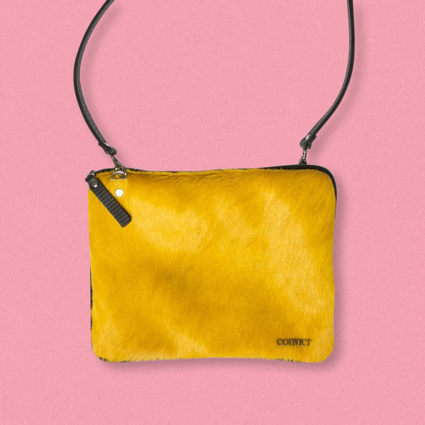 Convict Grace Crossbody, Mustard Cowhide