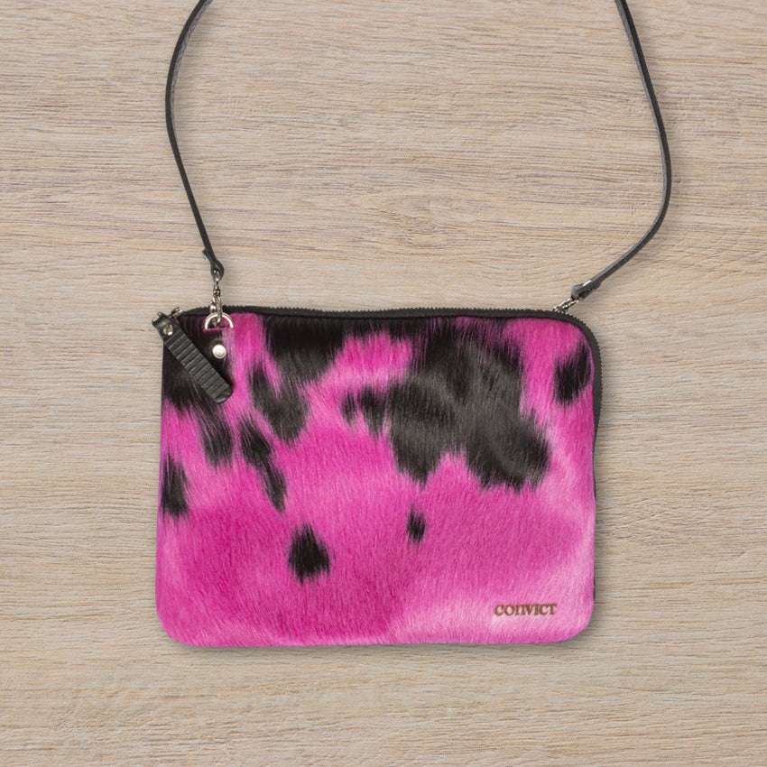Convict Grace Crossbody, Pink Cowhide