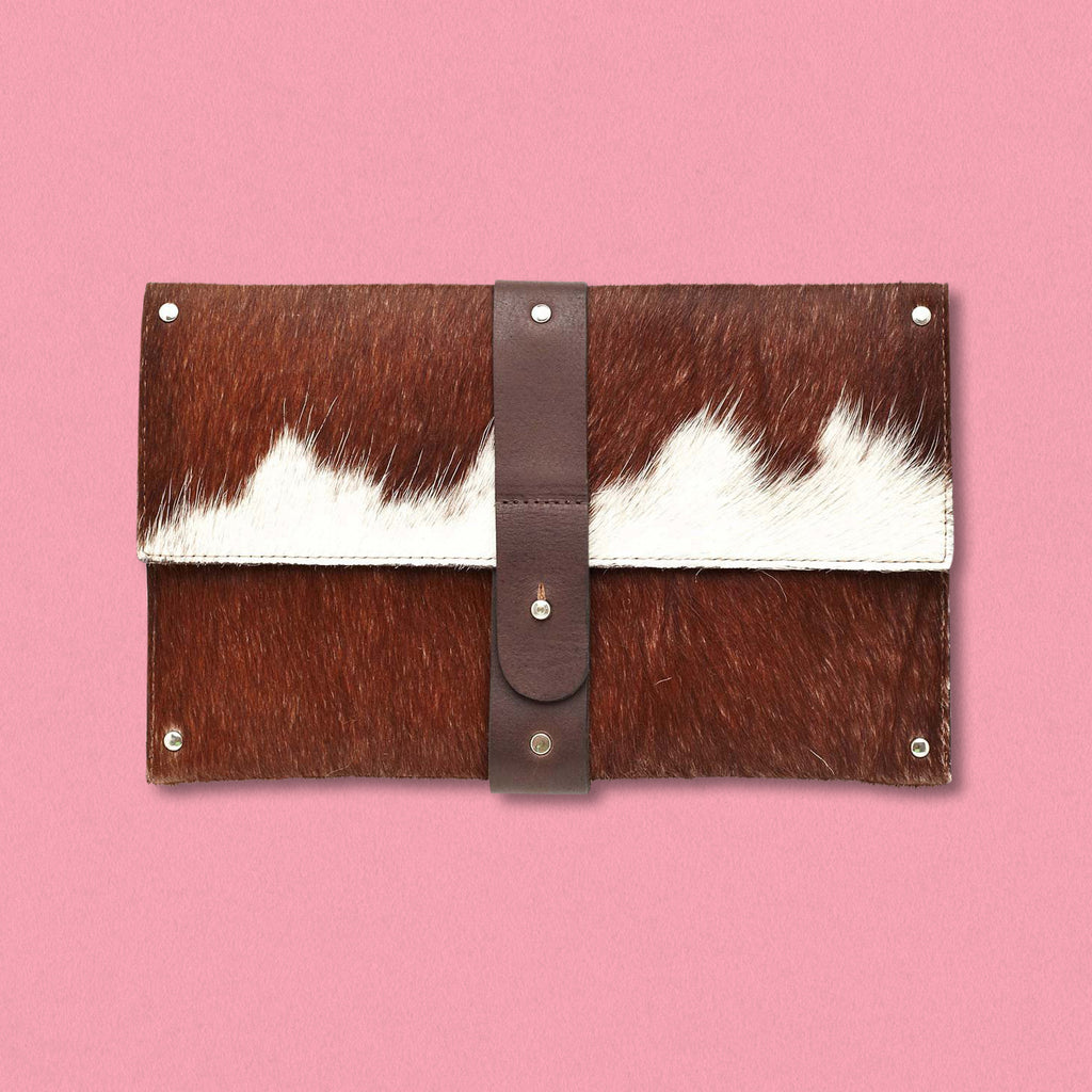 Convict Mary Clutch, Brown Cowhide
