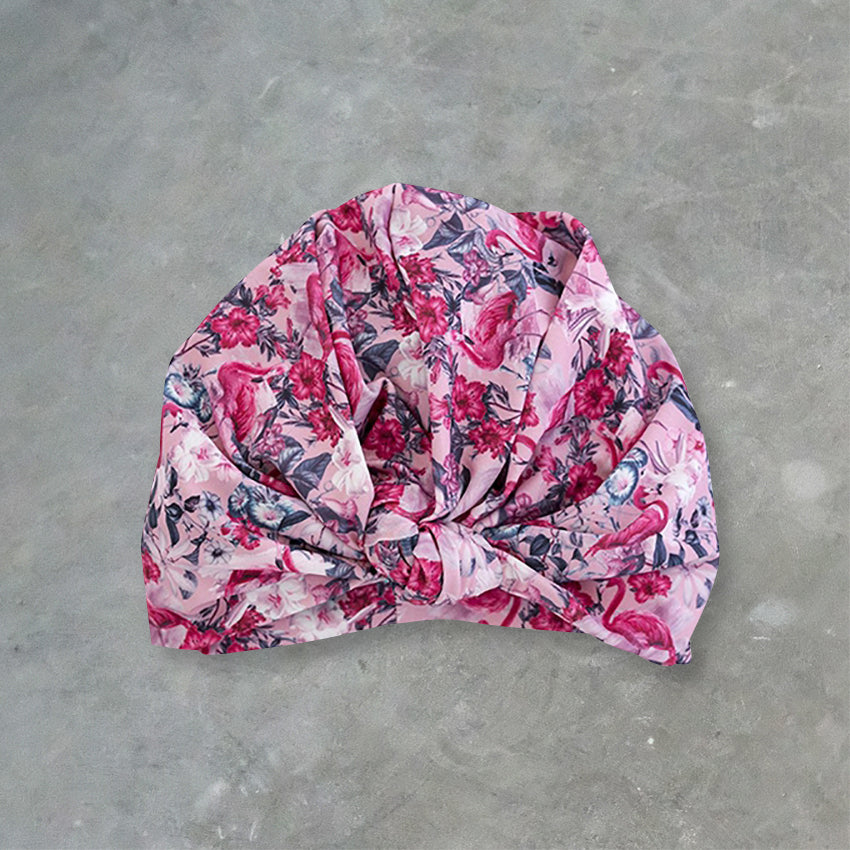 Louvelle Shower Turban Dhalia, Florida Flamingo