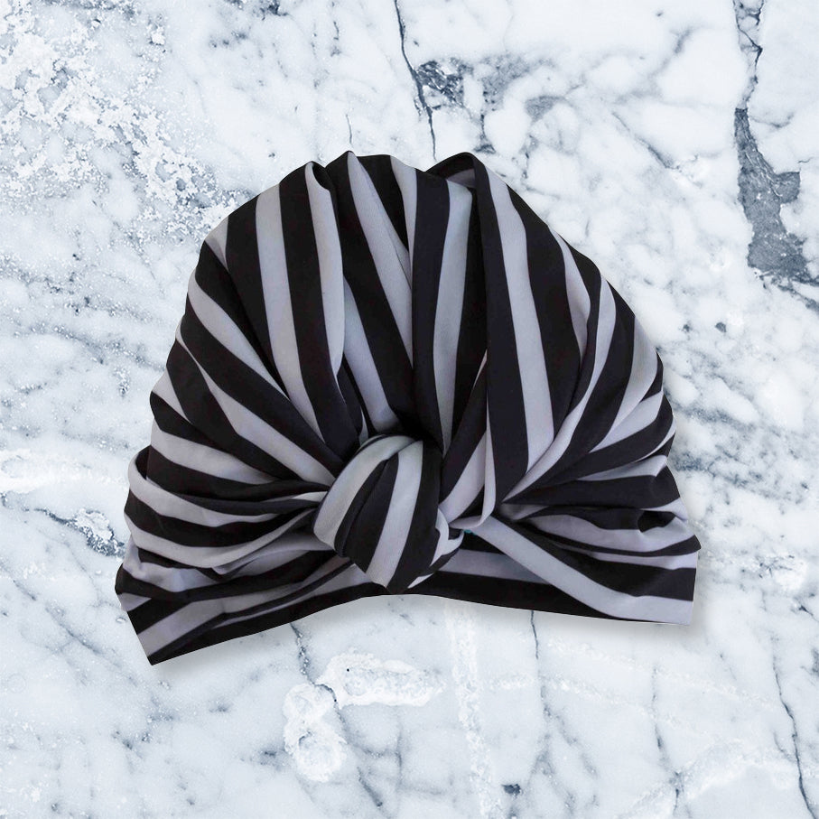 Louvelle Shower Turban Dhalia, Monochrome Stripe