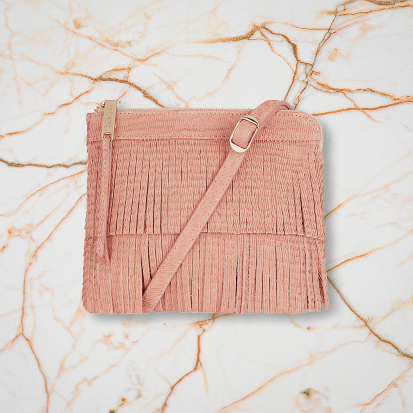 Arlington Milne Daisy Crossbody, Blush Scales