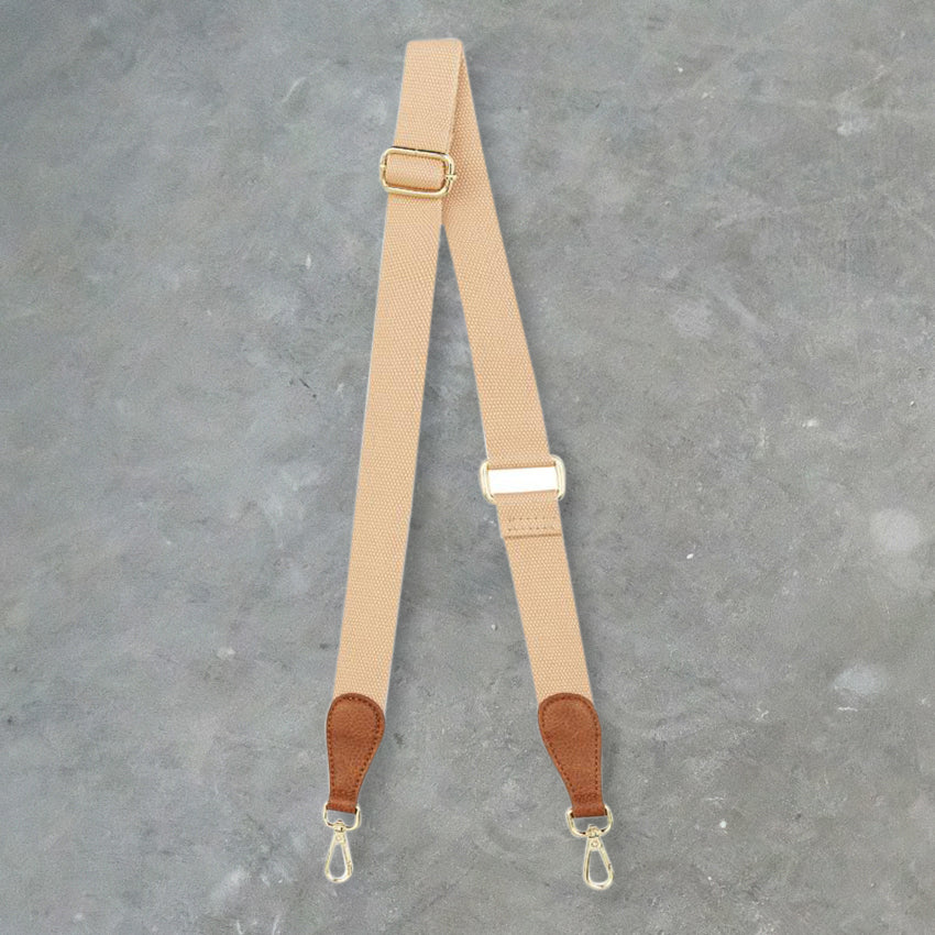 Elms + King Accent Strap, Tan Pebble