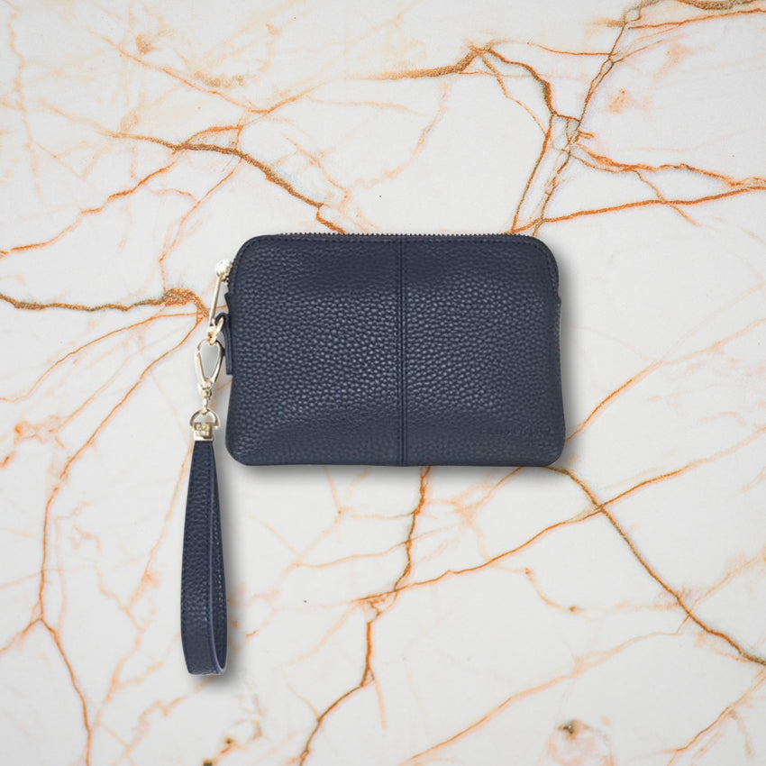Elms + King Bowery Coin Purse, French Navy