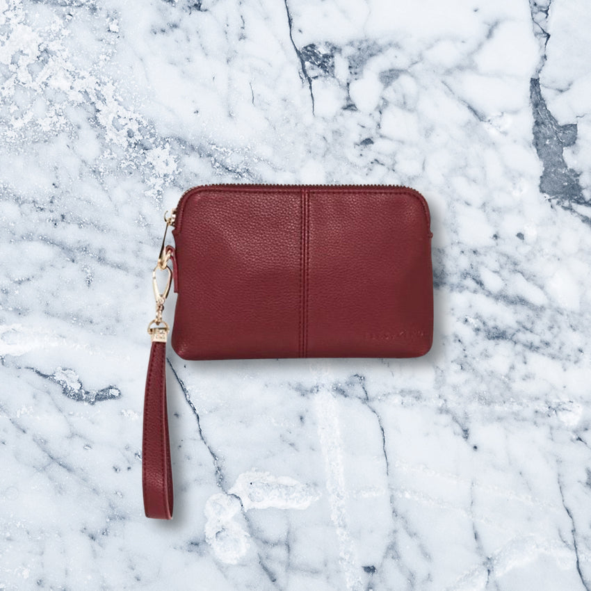 Elms + King Bowery Coin Purse, Maroon