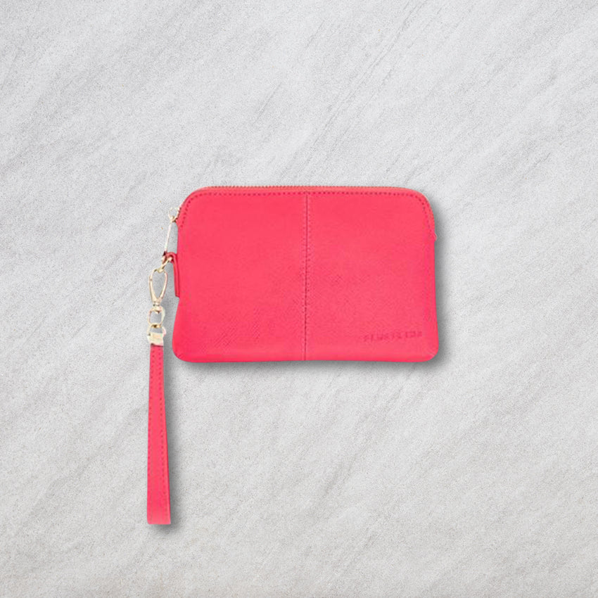 Elms + King Bowery Coin Purse, Raspberry