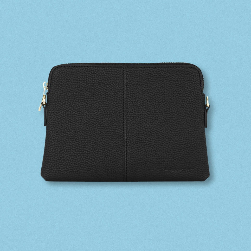 Elms + King Bowery Wallet, Black Pebble