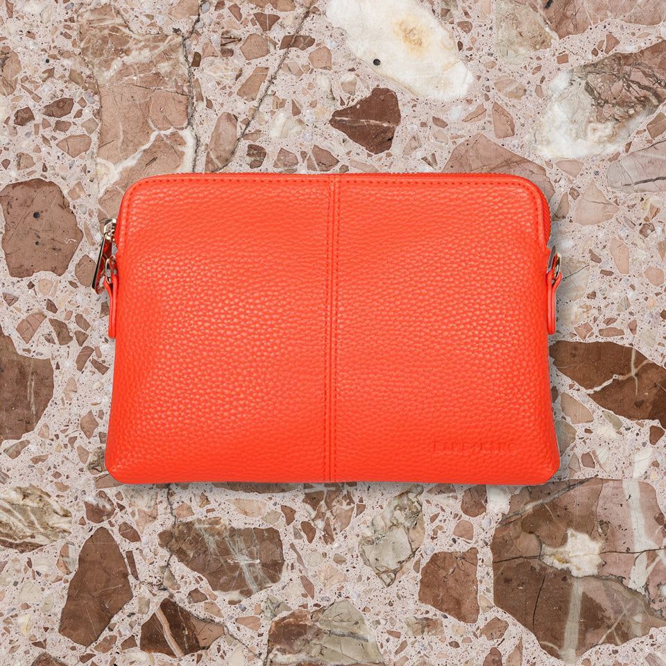 Elms + King Bowery Wallet, Orange Pebble