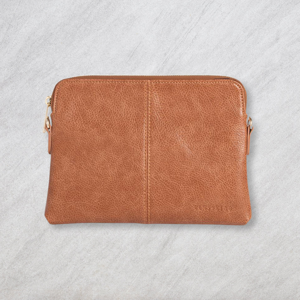 Elms + King Bowery Wallet, Tan Pebble