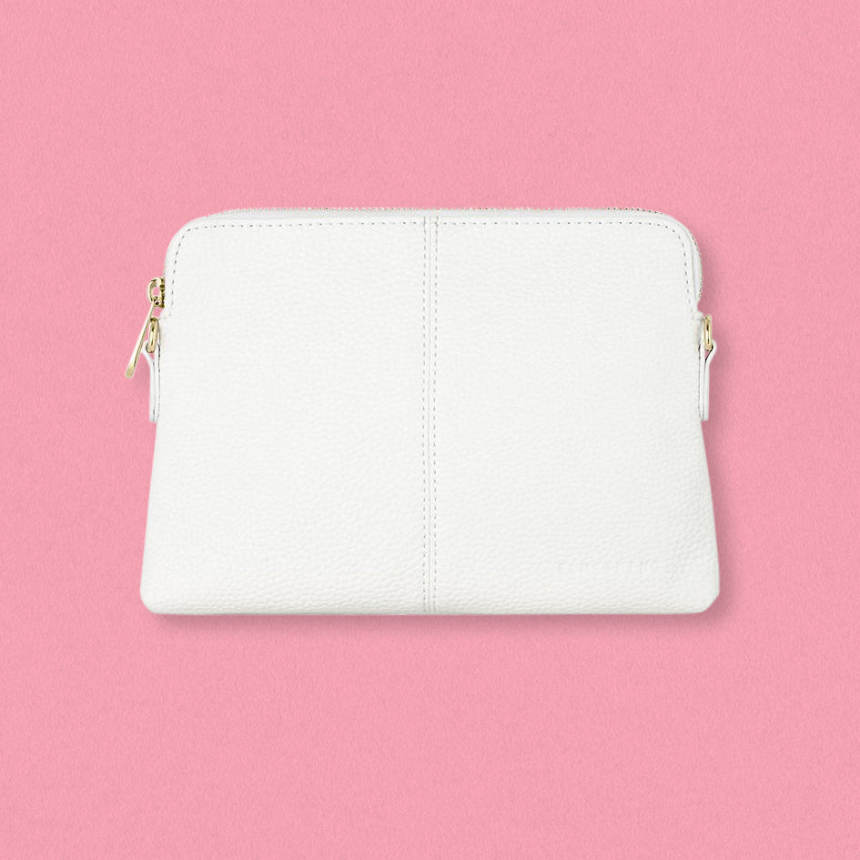 Elms + King Bowery Wallet, White