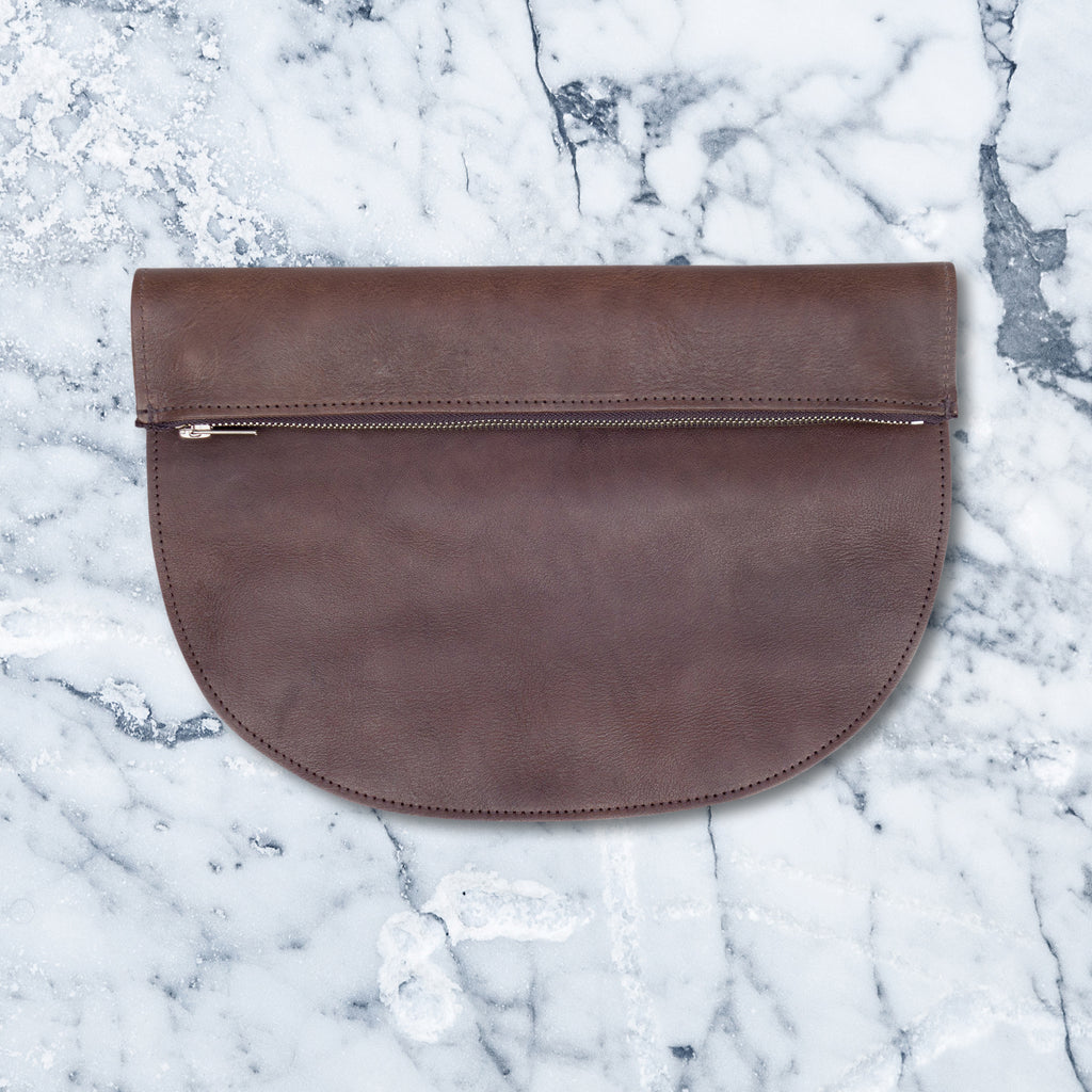 Graine Rags To Richmond Clutch, Chocolate
