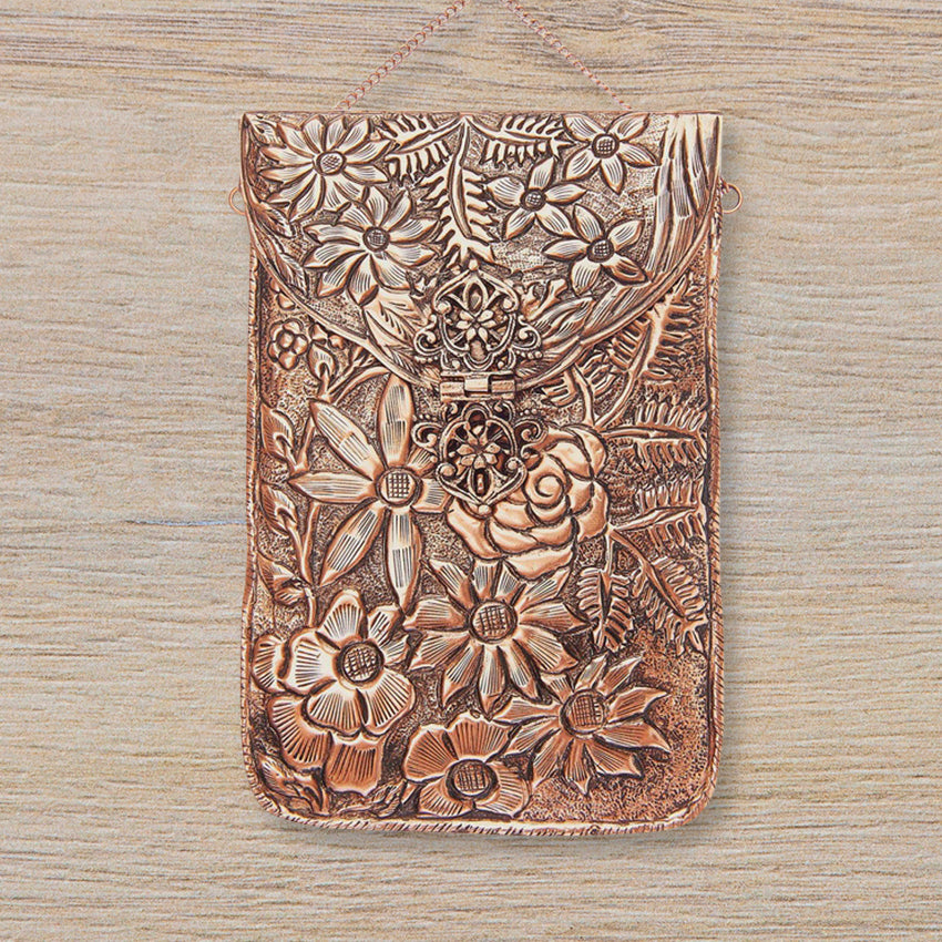 From St Xavier Jasmine Clutch, Rose Gold